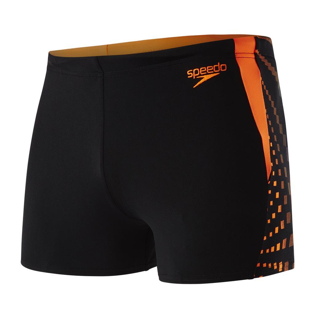SPEEDO AQUASHORT         schwarz/orange