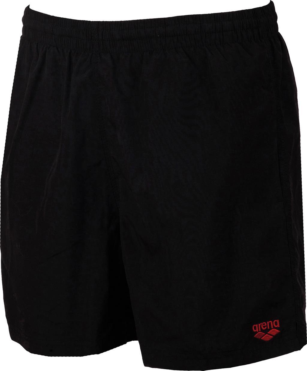 ARENA BADESHORT BOXER    BLACK/SHINY RED