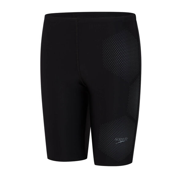 SPEEDO JAMMER JUNIOR     HEXAGONAL schw/grau