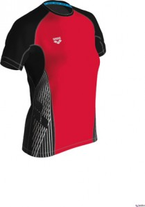 ARENA RUN-SHIRT Damen    FUNK. FLRED/BLK